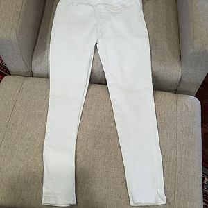 White Hayden Girls Jeggings  Size 11/12